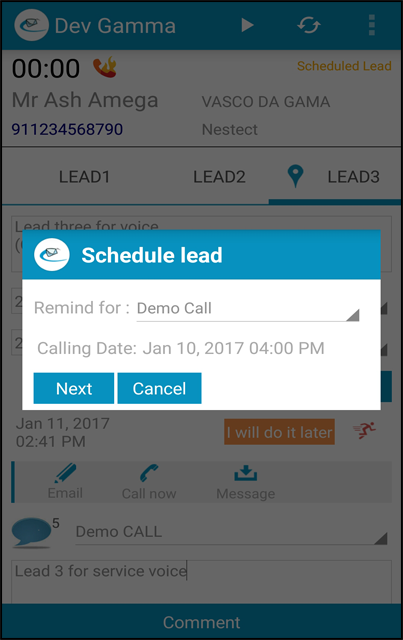 active schedular sales crm